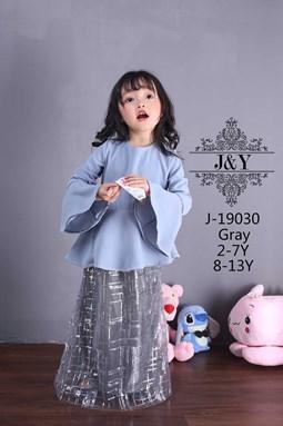 J & Y    BAJU RAYA - GRAY  ( SIZE 1Y-6Y )
