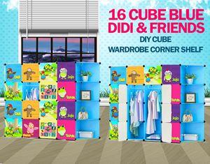 Didi & Friends Blue 16C DIY Cube w Corner Rack (DD16CB)