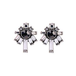 CAFE SOCIETY CRYSTAL STUD EARRINGS