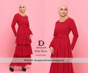 Laila Dress Maroon