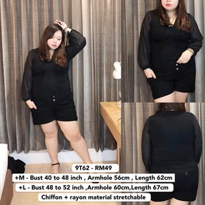 9T62 *Ready Stock *Bust 40 - 52INCH