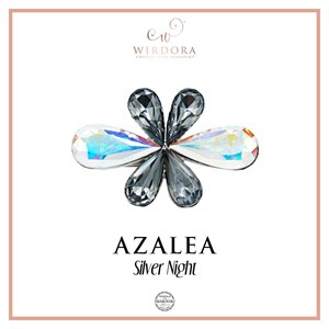 Brooch Azalea Silver Night