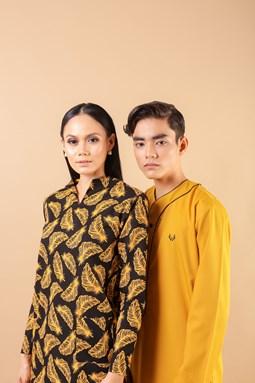 Kamilea Kurung Kedah (Black-Yellow)