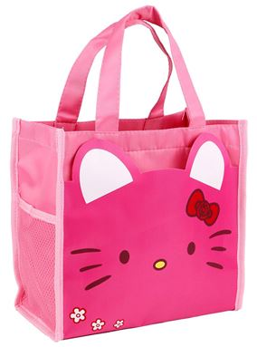 Hand Carry Cartoon Lunch Bag ( KITTY PINK )
