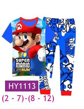 HY1113 Super Mario Pyjamas (2 - 7 tahun)(8 -12 tahun)