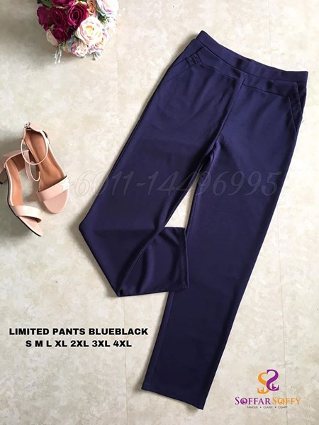 LIMITED PANTS BLUEBLACK