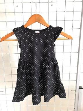 Princess Dress V2 : Grey Polka, size 6-8