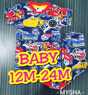 Pyjamas CARS CHAMPIONSHIP  : BABY size 24m