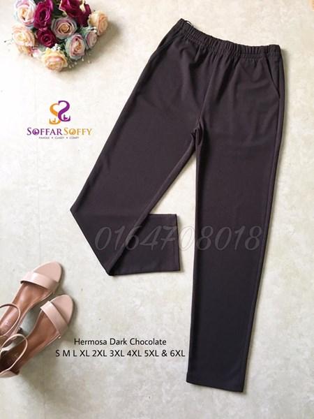 HERMOSA DARK CHOCOLATE TANPA GOSOK ( SAIZ S M L XL 2XL 3XL 4XL 5XL 6XL )