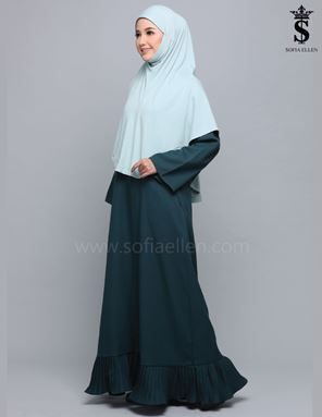 JUBAH TIFFANY EMERALD GREEN