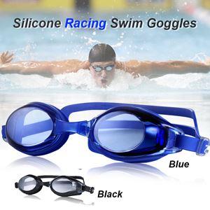 Silicone Racing Swim Goggles, Anti Fog UV Protection Swimming Goggles