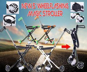 New 5 Wheel Flashing Magic Stroller (5WHEEL+FENCE)