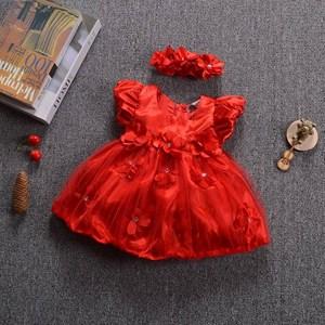 Red Flower Baby Dress
