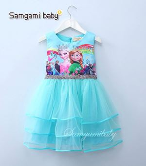 @  SAMGAMI DRESS 011 - FROZEN BLUE  TUTU.  ( SZ 100-140 )