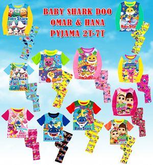 Baby Shark Doo / Omar & Hana Pyjama (A575-583) - (2T-7T)