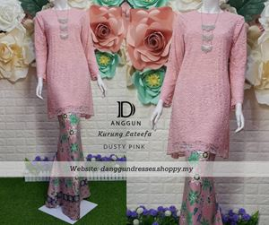 Kurung Lace Lateefa Dusty Pink