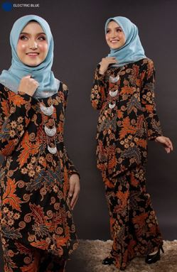 KEBAYA BATIK MAYANGSARI ELECTRIC BLUE