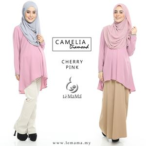 Camelia Diamond Blouse : Cherry Pink