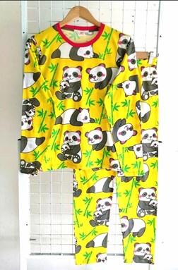 Pyjamas PANDA BAMBOO YELLOW : Size DEWASA XL-3XL (GL)