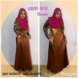 Jubah Alya Brown