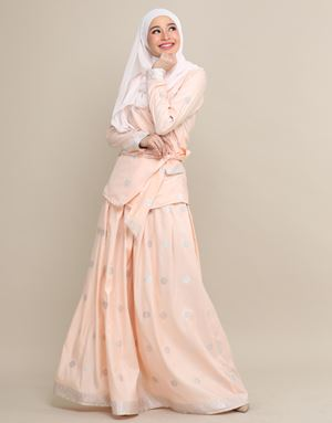 CHEMPAKA SONGKET IN PEACH