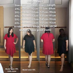 NC405 Ready Stock *Bust 42 to 58 inch/ 108-148cm
