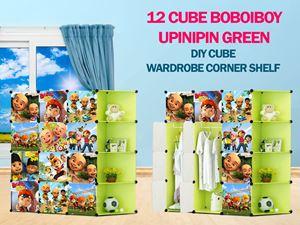 Boboiboy & Upin Ipin Green 12C DIY Cube w Corner Rack (BB12CG)