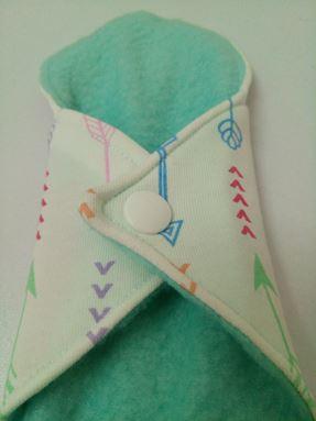 Panty liner arrow