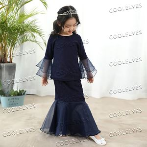 DEFRENZA KURUNG MODERN FOR KIDS ( NAVY BLUE)