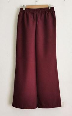 Palazzo Premium Cotton Melissa - Maroon (Size: 36 - 44)