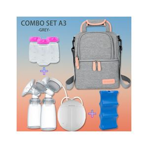 Combo Set A3 Gray - V-cool + Double Breast Pump