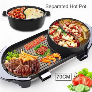 BBQ GRILL WITH POT - BLACK