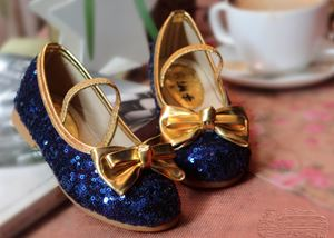 SEQUIN POPULAR SHOES-BLUE