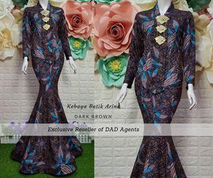 Kebaya Batik Arina Dark Brown