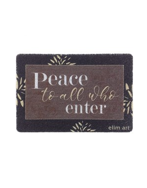 Floor Mat - Peace to All Who Enter