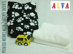 Alva Baby Diaper (Printed Minky-Normal printing)SOLD OUT