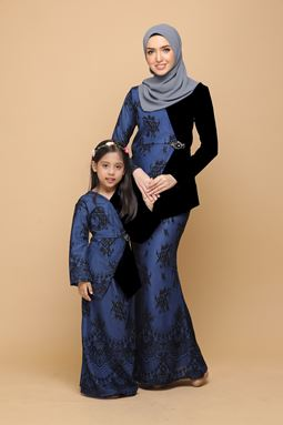 DEWI BLACK / ROYAL BLUE (KIDS)
