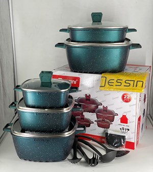 DESSINI 22PCS GRANITE -  GREEN