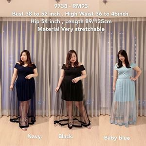 9738 Ready Stock *Bust 38 to 52 inch/ 97-132cm