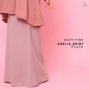 Adelia Skirt Plain : Dusty Pink