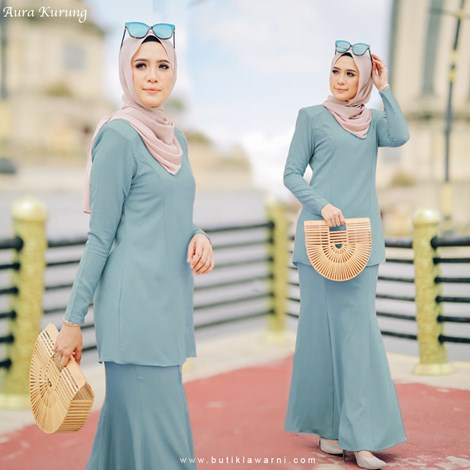 AURA KURUNG DUSTY BLUE