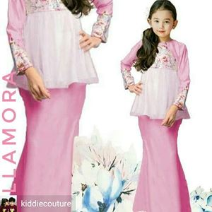ELLAMORA MODERN PEPLUM FOR KIDS ( PINK)