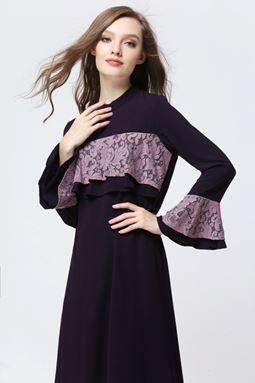 DOUBLE LAYER EXCLUSIVE JUBAH - PURPLE