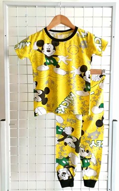 SIZE 12 BIG KIDS  Pyjamas JOYOUS MICKEY YELLOW  (HELAL)
