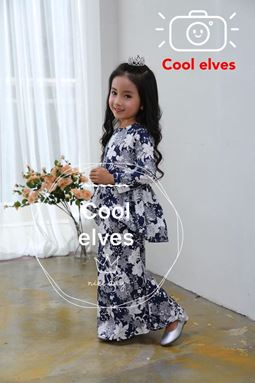 COOLELVES PEPLUM SCALLOP SET 5 ( SIZE 1Y-12Y )