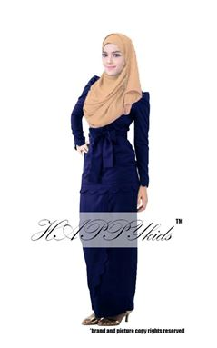 @   HAPPYKIDS SCALLOP  ( WOMAN - DARK BLUE  )  S-2XL