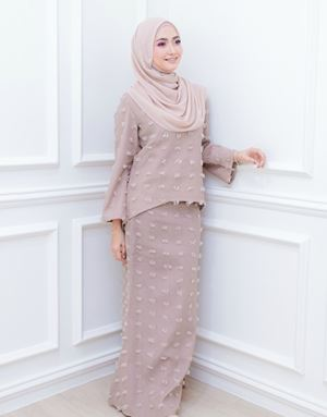 GIA MODERN KURUNG IN DUSTY BROWN