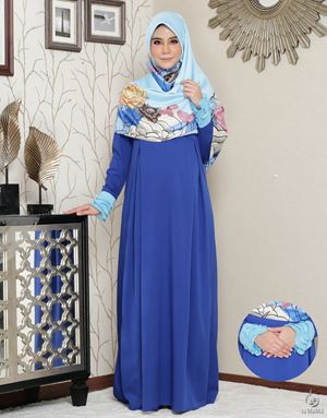 Siti Aafiyah Dress : Royal Blue