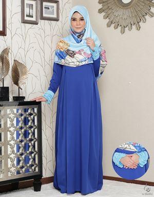Siti Aafiyah Dress : Royal Blue