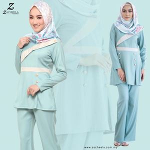 SOPHIA BLOUSE & PANTS (MINT GREEN)